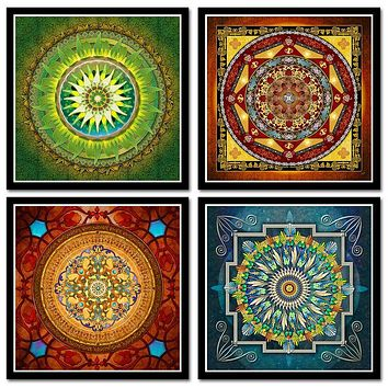 Tibetan Thangka Mandala Art Paintings Buddha Art Wall Pictures Home Decor Culture Spiritual Canvas Painting Religion Canvas Art