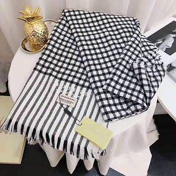 DIOR Autumn Winter Fashionable Women Plaid Cashmere Cape Scarf Scarves Shawl Accessories