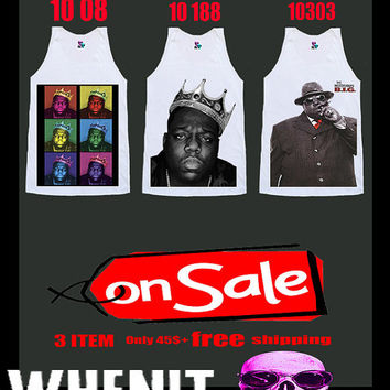 Free Shipping worldwide shipping just 7 days 3 item set of THE NOTORIOUS BIG shirt singlet tank top 5001