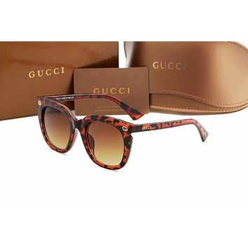 GUCCI Stylish Women Simple Summer Style Sun Shades Eyeglasses Glasses Sunglasses Leopard Grain I-AJIN-BCYJSH