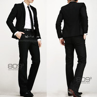 Slim Fit Men Black Fashion Suit Sets