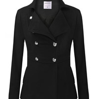 Long-Sleeve Lapel Trench Coat