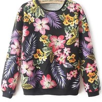 Nature-Inspired Floral Foliage Sweatshirt - OASAP.com