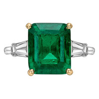 Cartier 4.99 Carat Colombian Emerald Diamond Ring