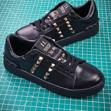 Valentino Rockstud Untitled Black Sneakers - Best Online Sale