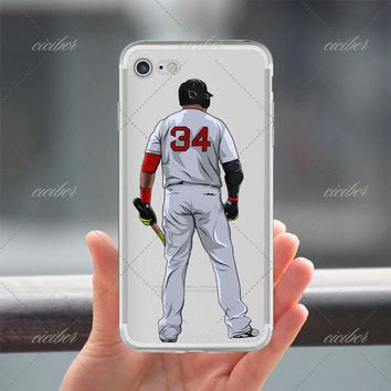 34 Baseball Clear Phone Case for ALL iPhone 7 7Plus 6 6s Plus 5 5s SE