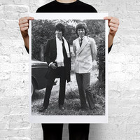 Keith Richards and Mick Jagger rare photo Poster