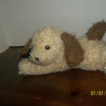 "vintage 1994 mary meyer tan & brown puppy dog plush 10"" long"