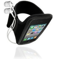 Soft Sport Gym Armband Case for iPhone 4, Samsung I9100 Galaxy S II, HTC Evo 4G, HD7 - Black