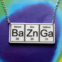 BAZINGAWhite BaZnGa Necklace silver plated chain by WendyJNZ