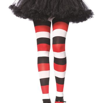 Leg Avenue Female Darling Doll Opaque Striped Tights 7948