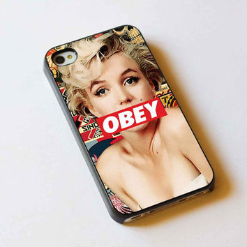 iphone case,Marilyn Monroe Obey,iphone 5 case,iphone 4/4s case,samsung s3,s4 case,accesories,cell phone,hard plastic.