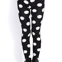 Sketched Polka Dot Leggings