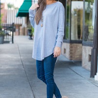 Good Girl Gone Tunic, Light Blue