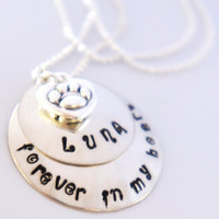 Personalized Pet Memorial Necklace by RiverValleyJewelry