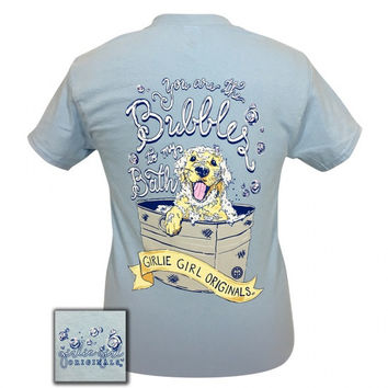 Girlie Girl Originals Preppy Bubbles In My Bath Puppy T-Shirt