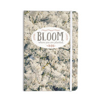 """Robin Dickinson """"Bloom Where You Are Planted"""" White Floral Everything Notebook"""