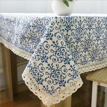 Liner Cotton Tablecloths For Square Tables Oil Proof Dining&Coffee Table Cover Liner Vintage Table Runner Table Cloth For Home