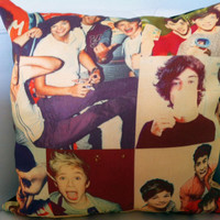 Stuffed Vintage Look 1D One Direction Throw Pillow by PopEyeCon