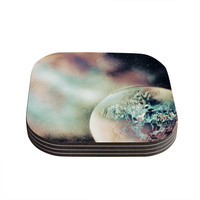 "Infinite Spray Art ""Space Dust"" Space Planet Coasters (Set of 4)"