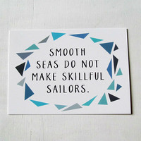 Skillful Sailors Postcard