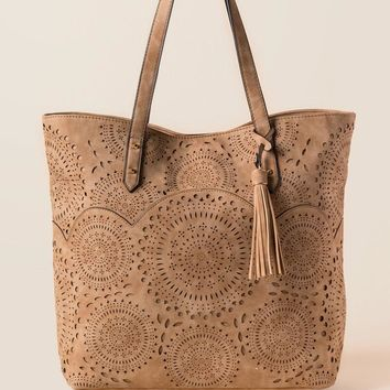 Laura Perforated Tote