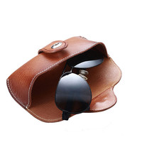 Handmade Leather Collection Hard Eyeglass Case Sunglasses Holder