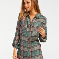 Full Tilt Charlie Womens Flannel Shirt Multi  In Sizes