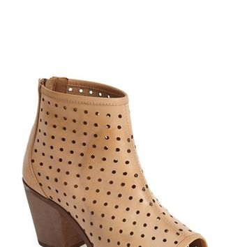"Women's Kelsi Dagger Brooklyn 'Kyoto' Perforated Leather Peep Toe Bootie, 2 3/4"" heel"