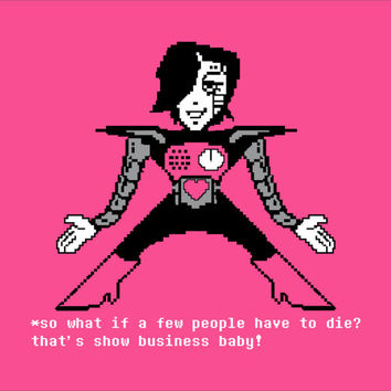 Undertale Mettaton 'That's Show Business Baby!' T-Shirt