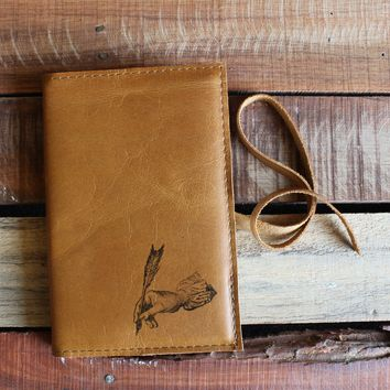 Hand Writing Leather Journal