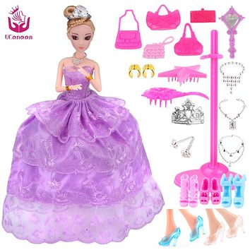 New Favorite Princess Doll Fashion Party Wedding Dress Moveable Joint Body Classic Toys Best Gift for Girls Friends
