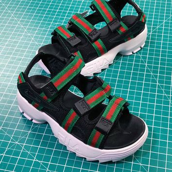 Gucci X Fila Disruptor 2 Sandals - Sale-1