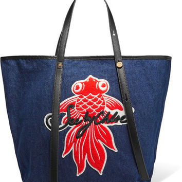 See by Chloé - Andy appliquéd denim tote
