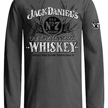 Jack Daniels Men's Daniel's Grey Old Time Whiskey T-Shirt - 15261412Jd-79