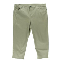 Style & Co. Womens Twill Tummy Control Capri Pants