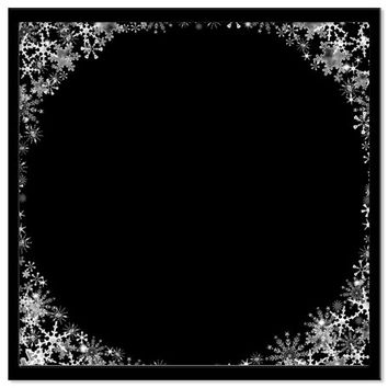 Snowflake Background, Christmas Frame Overlay, Digital Scrap Book Paper, Photoshop Overlays for Portraits, Xmas, Crafting
