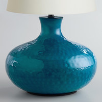 Blue Potted Accent Lamp Base - World Market