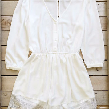 Summer Light Lace Romper