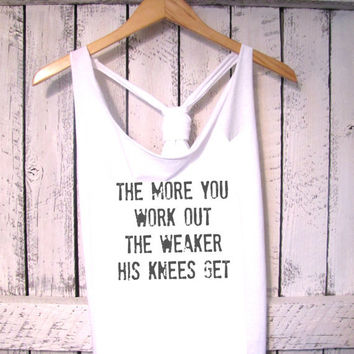FREE SHIPPING- Work out Tank, Athletic Tank, Gym Tank, Exercise Tank, Fitness Clothes (women, teen girls)