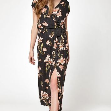 MinkPink Nightshade Wrap Midi Dress at PacSun.com