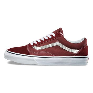 Vans Old Skool + Crystals - Madder Brown
