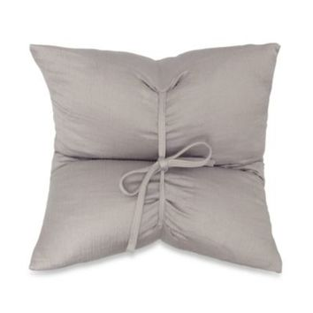 DKNYpure Pure Indulge Matelassé Square Toss Pillow in Grey