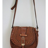 Brown Leather Cross Body Bag