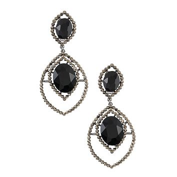 Rhinestone and crystal clip on earring
