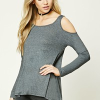 Open-Shoulder High-Low Top