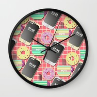 Breakfast Wall Clock by Susana Paz | Society6