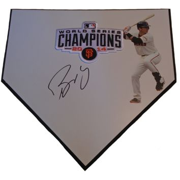 Buster Posey Autographed San Francisco Giants Photo Home Plate, Proof