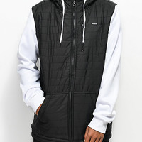 Empyre Peak Quilted Black & White Tech Fleece Hoodie | Zumiez