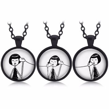 best friend necklace Creative keychain 3 /2 pcs sets alloy phone necklace best friend forever pendants a gift to a girlfriend